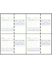 Four-of-a-Kind Utility Standard Preprinted White Postcards