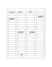 Label 80UP 1 3/4&#34 x 1/2&#34  Template for Microsoft Word