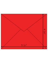 Note Cards Envelopes - Rudolph Red 1