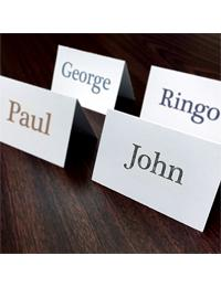 Place Cards - Standard White (4UP) 2