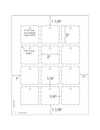 Burris Blank 12UP Square Tag Template for Microsoft Word