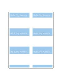 LLS-4X3 13 6UP Name Tag Labels Template for Microsoft Publisher