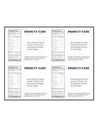 LLS-4X5 4UP Labels Jar Template for Microsoft Publisher